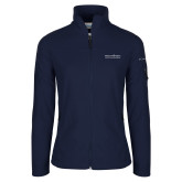 Columbia Ladies Full Zip Navy Fleece Jacket-COM Alt