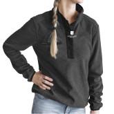 Ladies DRI DUCK Aspen Charcoal Fleece Pullover-SJI Stacked
