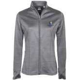 Ladies Callaway Stretch Performance Heather Grey Jacket-SJI Stacked