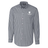Cutter & Buck Charcoal Stretch Gingham Long Sleeve Shirt-SJI Stacked