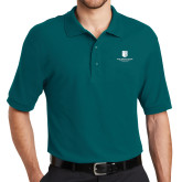 Teal Easycare Pique Polo-SJI Stacked