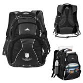 High Sierra Swerve Black Compu Backpack-SJI Stacked