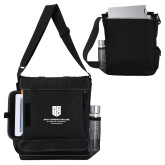 Impact Vertical Black Computer Messenger Bag-SJI Stacked