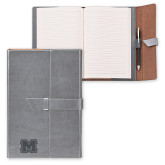 Fabrizio Junior Grey Portfolio w/Loop Closure-Primary Logo Engraved