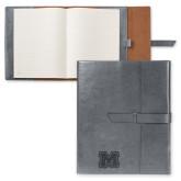 Fabrizio Grey Portfolio w/Loop Closure-Primary Logo Engraved