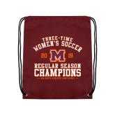 Maroon Drawstring Backpack-2019 Womens Soccer Champions