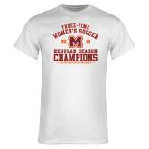 White T Shirt-2019 Womens Soccer Champions