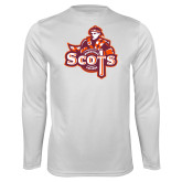 Syntrel Performance White Longsleeve Shirt-Secondary Logo