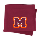 Maroon Sweatshirt Blanket-Primary Logo