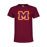 Youth Maroon T Shirt-Primary Logo