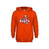 Youth Orange Fleece Hoodie-Secondary Logo