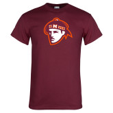Maroon T Shirt-Scot Head