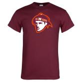 Maroon T Shirt-Scot Head