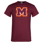 Maroon T Shirt-Primary Logo Distressed