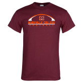 Maroon T Shirt-Football Arched