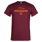 Maroon T Shirt-Baseball Laces on Top