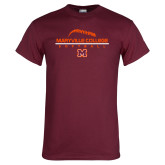 Maroon T Shirt-Softball Laces on Top