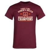 Maroon T Shirt-2019 Womens Soccer Champions