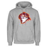Grey Fleece Hoodie-Scot Head