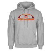 Grey Fleece Hoodie-Football Arched