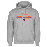 Grey Fleece Hoodie-Baseball Laces on Top