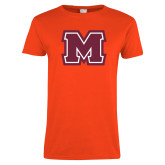 Ladies Orange T Shirt-Primary Logo