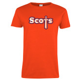 Ladies Orange T Shirt-Tertiary Mark