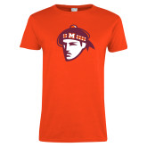 Ladies Orange T Shirt-Scot Head