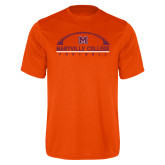 Performance Orange Tee-Football Arched