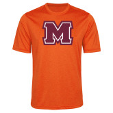 Performance Orange Heather Contender Tee-Primary Logo