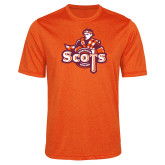 Performance Orange Heather Contender Tee-Secondary Logo