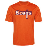 Performance Orange Heather Contender Tee-Tertiary Mark