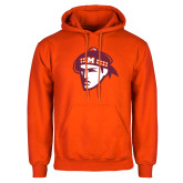 Orange Fleece Hoodie-Scot Head