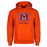 Orange Fleece Hoodie-Football