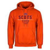 Orange Fleece Hoodie-Basketball Net