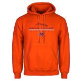 Orange Fleece Hoodie-Baseball Laces on Top