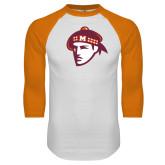 White/Orange Raglan Baseball T Shirt-Scot Head