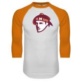 White/Orange Raglan Baseball T Shirt-Scot Head