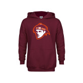 Youth Maroon Fleece Hoodie-Scot Head