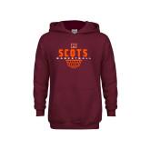 Youth Maroon Fleece Hoodie-Basketball Net