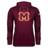 Adidas Climawarm Maroon Team Issue Hoodie-Primary Logo