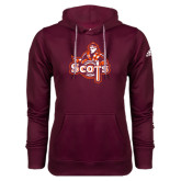 Adidas Climawarm Maroon Team Issue Hoodie-Secondary Logo