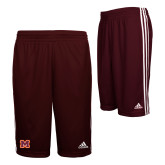 Adidas Climalite Maroon Practice Short-Primary Logo