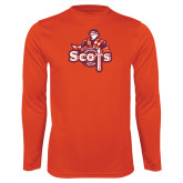 Performance Orange Longsleeve Shirt-Secondary Logo