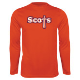 Syntrel Performance Orange Longsleeve Shirt-Tertiary Mark