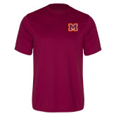 Performance Maroon Tee-Primary Logo