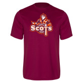 Performance Maroon Tee-Secondary Logo
