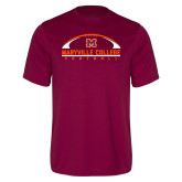Performance Maroon Tee-Football Arched