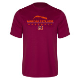 Performance Maroon Tee-Baseball Laces on Top