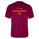 Performance Maroon Tee-Softball Laces on Top